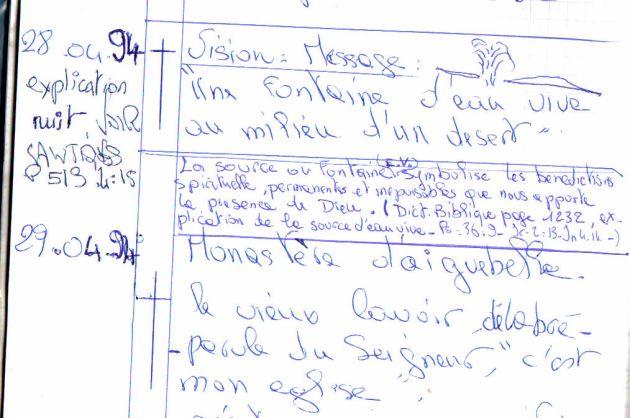 """Vision de 1994 """"Source d'eaux vives au milkieu d'un désert"""""""