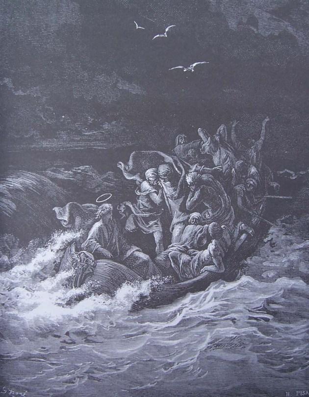 gravure-dore-bible---jesus-apaise-la-tempete